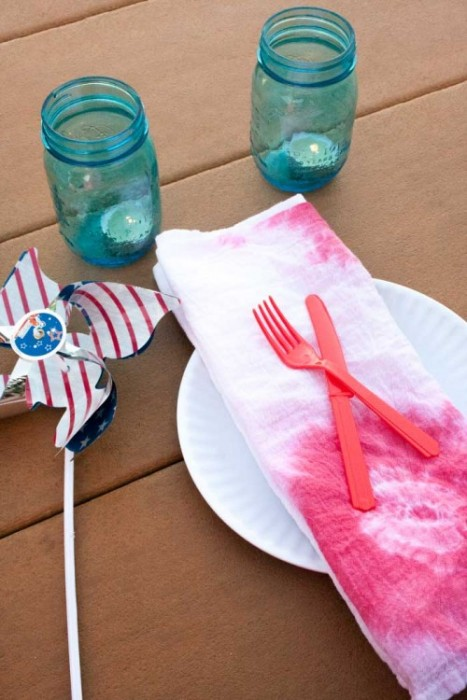 tie dye napkins