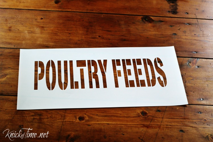 vintage feed sack sign stencil