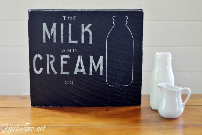 antique milk bottle stencil