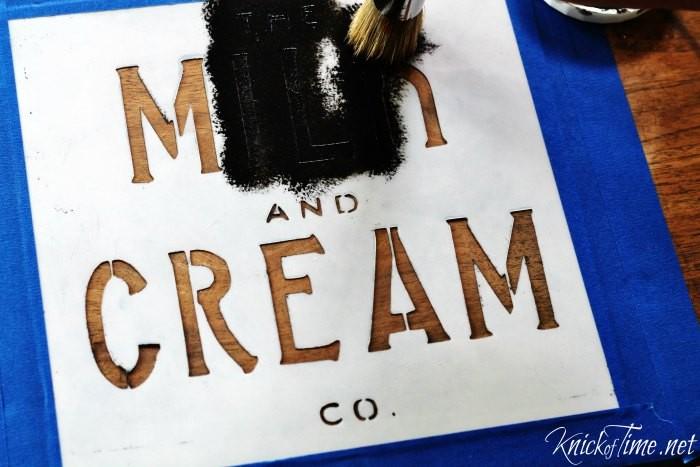 vintage sign stencil