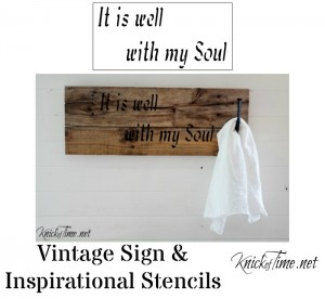 it is well with my soul sign stencil