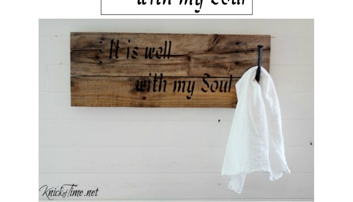 it is well with my soul sign stencil and a freebie