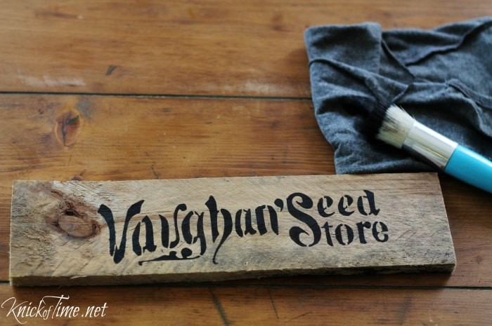 painted vintage sign