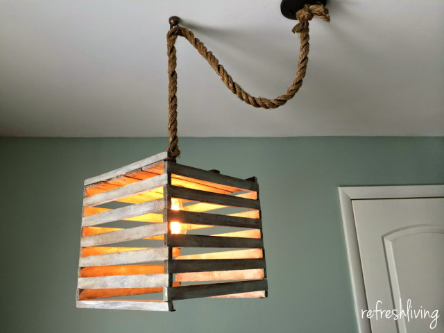 farmhouse crate light