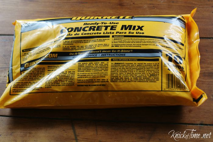 Quikcrete concrete mix