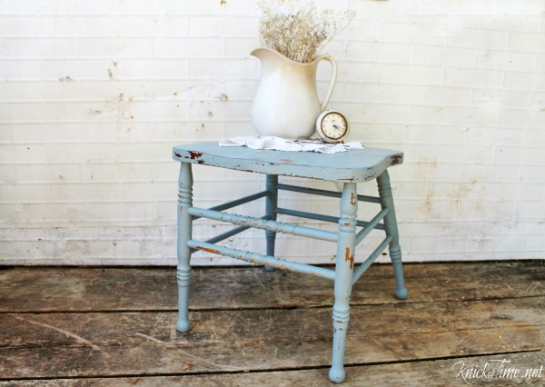 repurposed chair side table