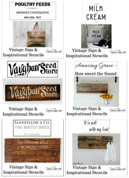 Vintage Signs Stencils