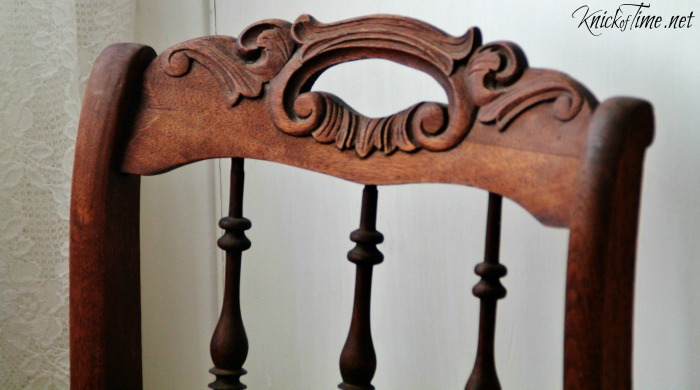 antique chair back