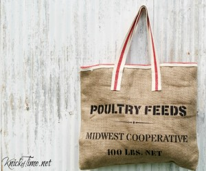 Old Feed Sack Style Tote Bag, Sign or Pillow