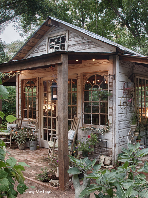 rustic potting shed wood cabin