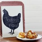 chicken shape chalkboard