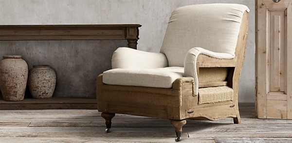 restoration hardware deconstructed furniture