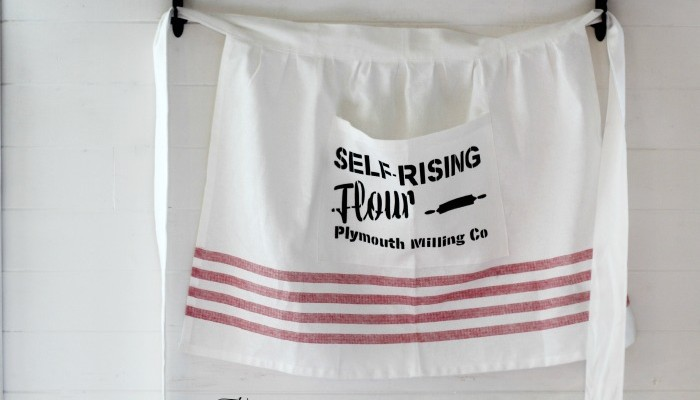 Well, Butter My Bread! {Baking Center Sign, Apron, and Table Runner}