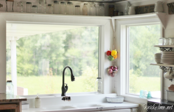 Farmhouse Kitchen Window Shelves - Knick Of Time