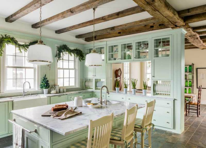 Farmhouse kitchens with charm function knick of time for Country living 500 kitchen ideas style function charm