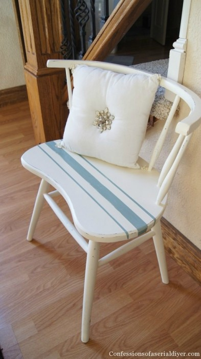 upcycled painted chair