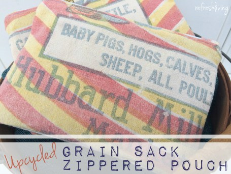 grain sack zippered pouch