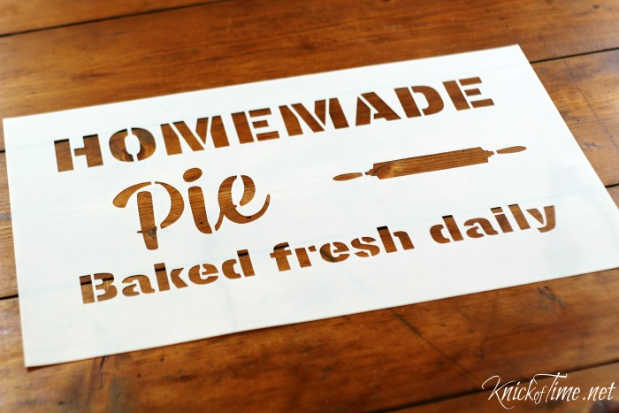 homemade pie sign stencil