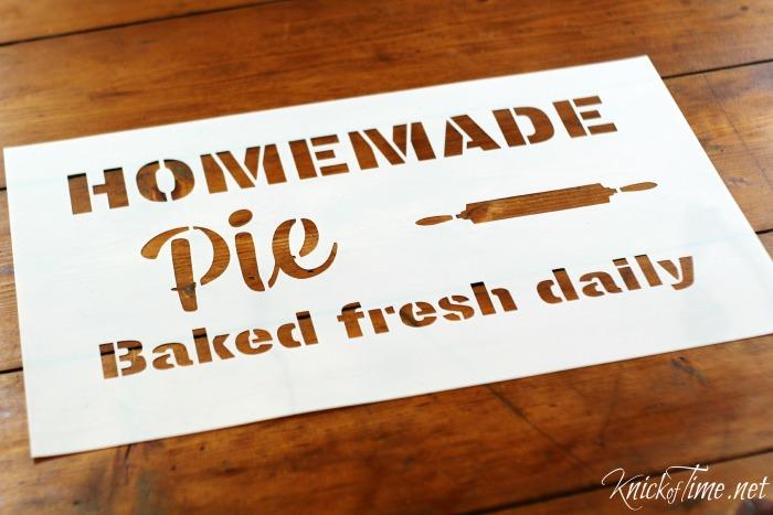 homemade pie sign stencil