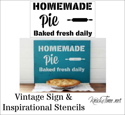 DIY pie sign stencil