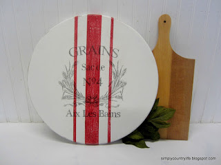 painted lazy Susan
