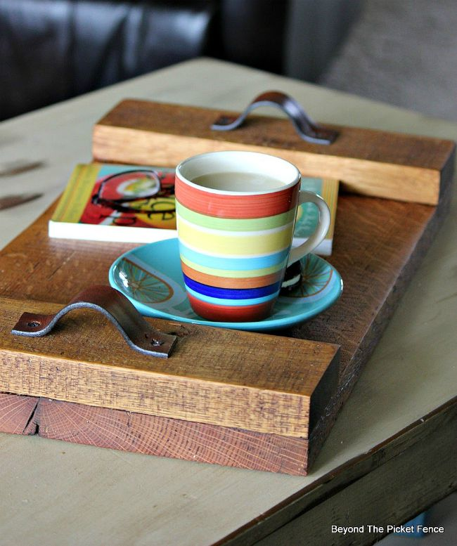 salvaged wood serving tray