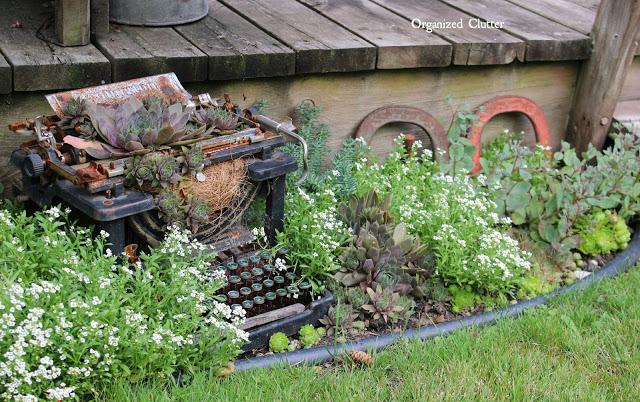 repurposed typewriter