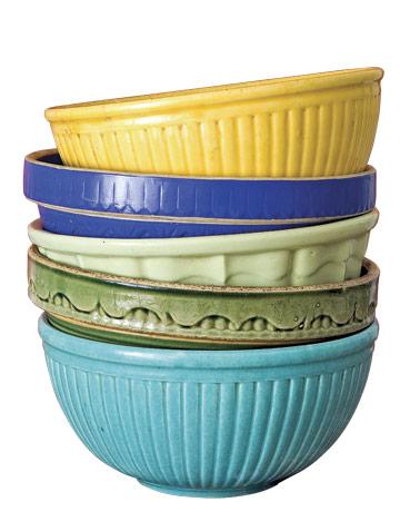 vintage pottery bowls