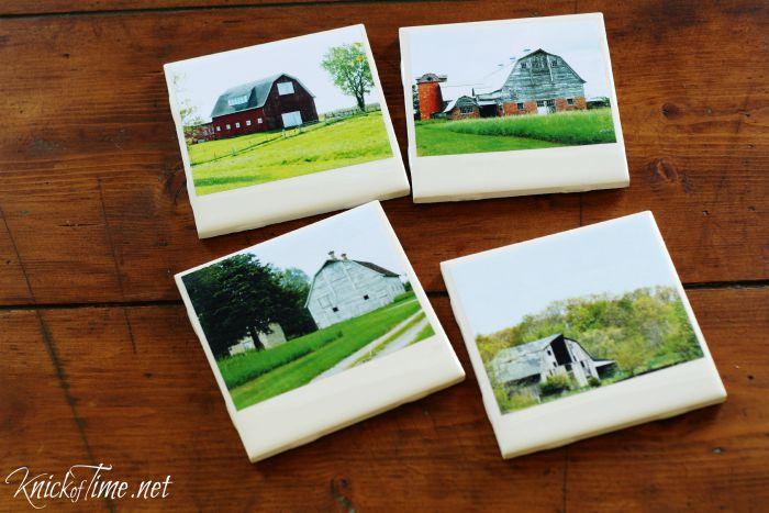 DIY Polaroid Tile Coasters | www.knickoftime.net