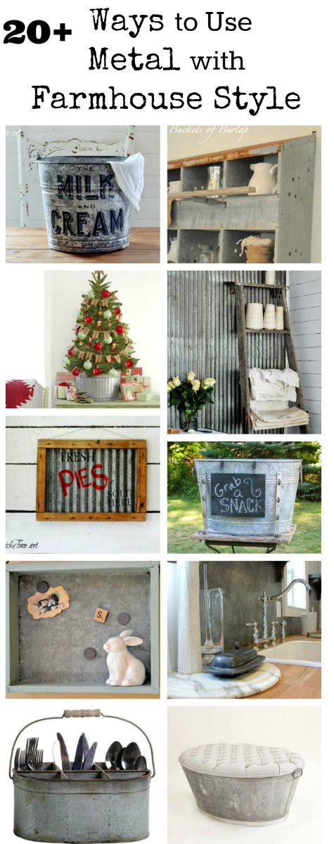 galvanized and metal decor - farmhouse friday #18 - knick of time