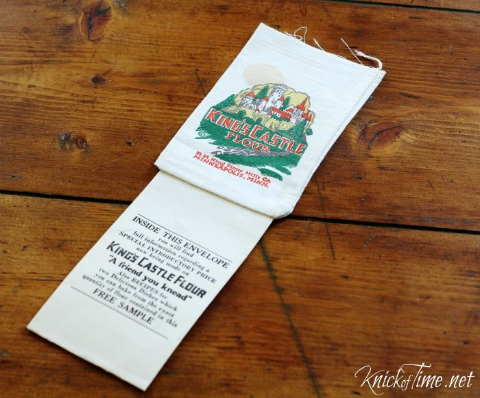 antique flour bag