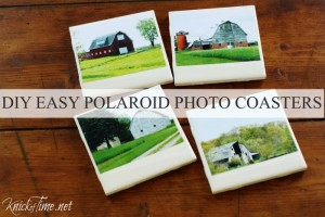 DIY Farmhouse Photo Coasters