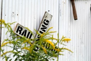 DIY Vintage Railroad Sign