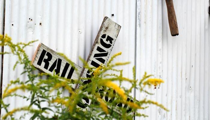 DIY Vintage Railroad Sign