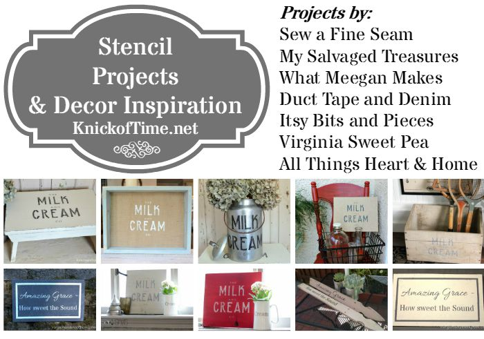 stencil projects and home decor