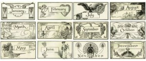 Back to School – Antique Calendar Graphics