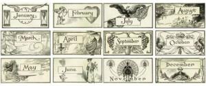 Back to School – Antique Calendar Graphics