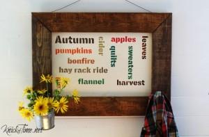 Autumn Moments Coat Rack Sign