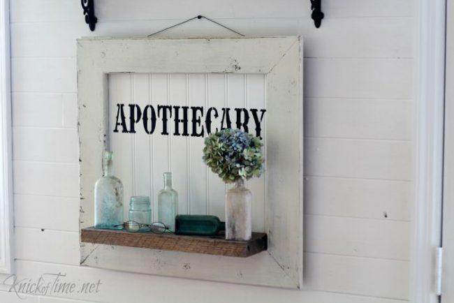 DIY apothecary beadboard sign | www.knickoftime.net