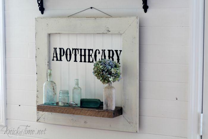 DIY apothecary sign