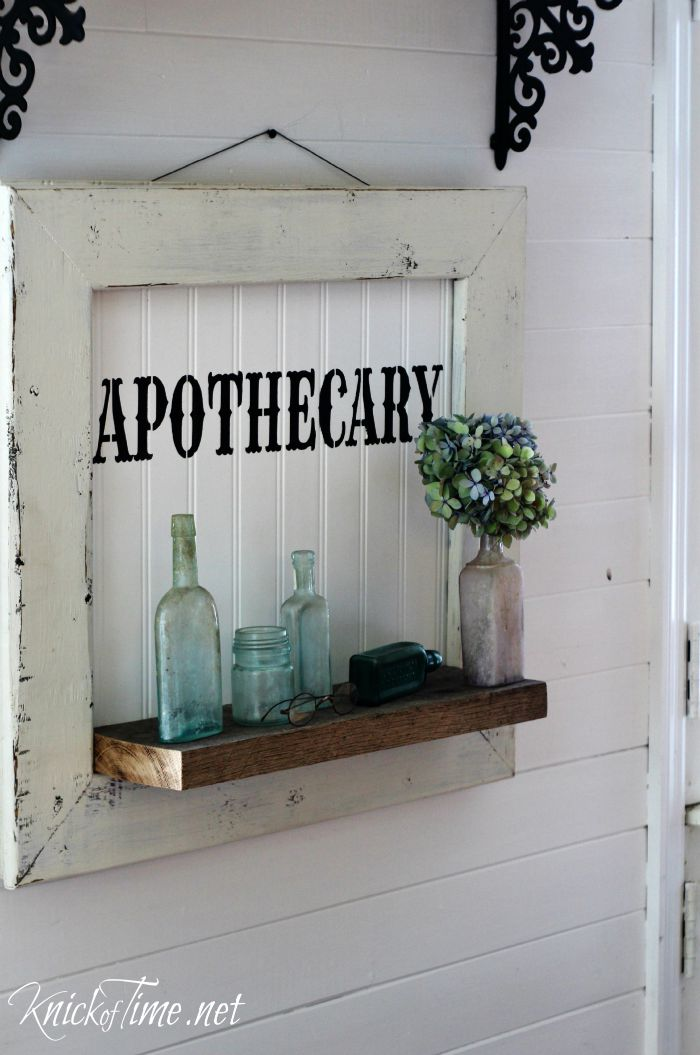 Diy Apothecary Sign Display Shelf Knick Of Time