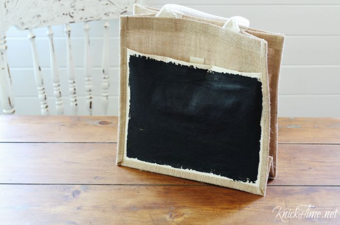 chalkboard paint on fabric