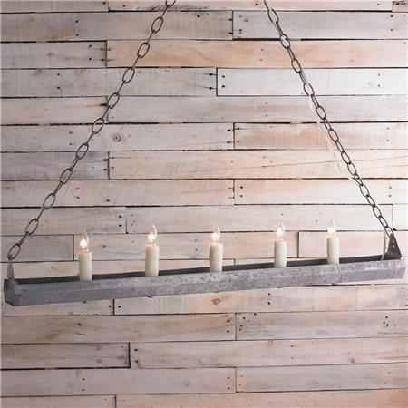 chicken feeder chandelier