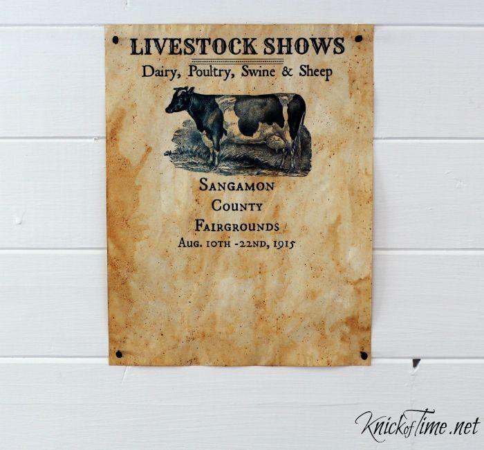 antique fair poster