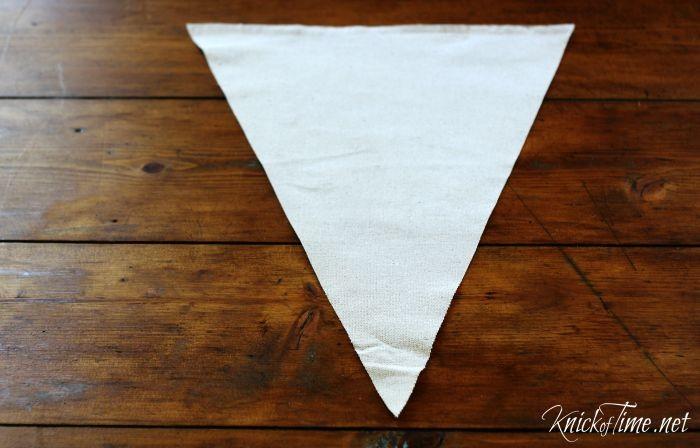 drop cloth pennant