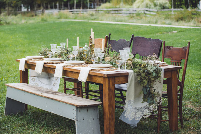 farmhouse style wedding