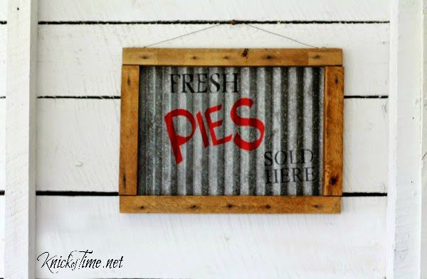 corrugated metal sign
