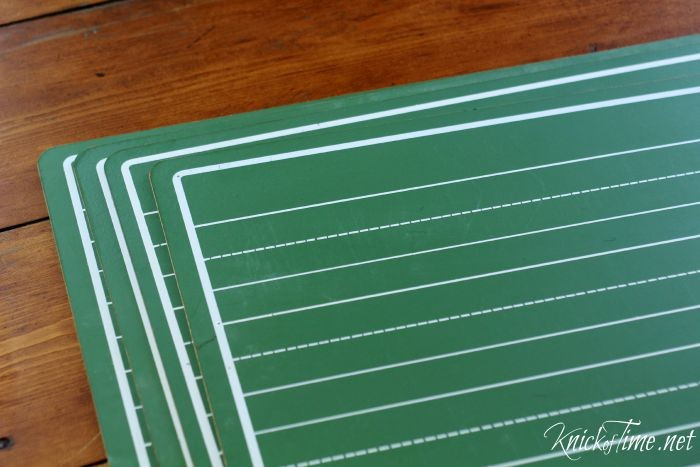 green vintage chalkboards