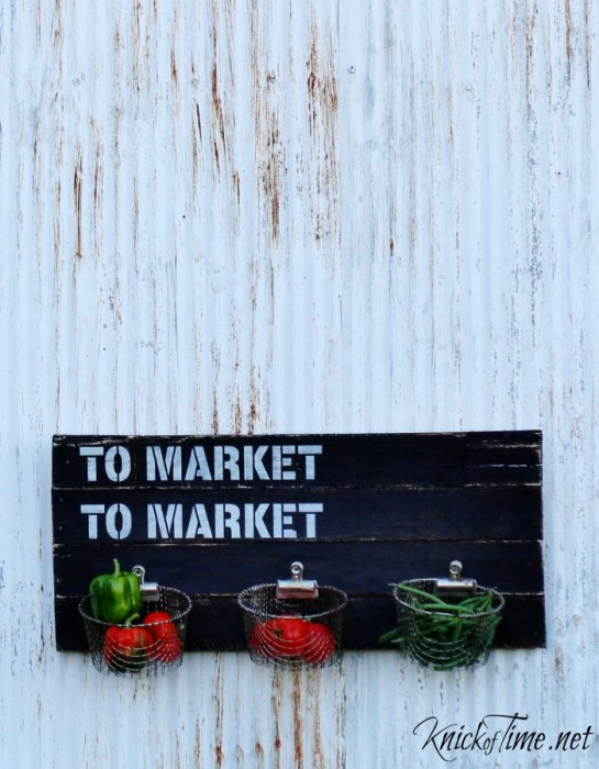 farmer's market pallet sign