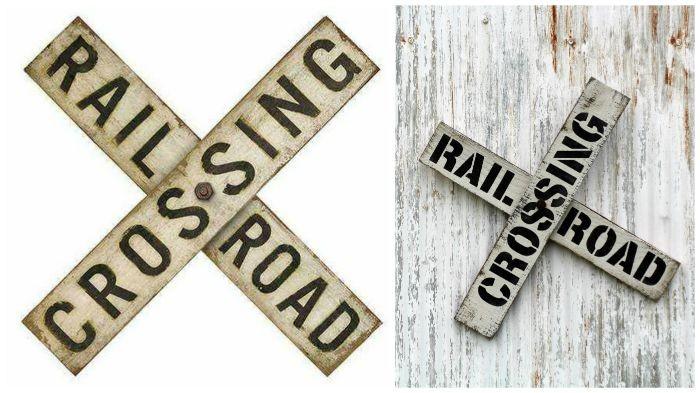 DIY Vintage Railroad Sign | Knick of Time